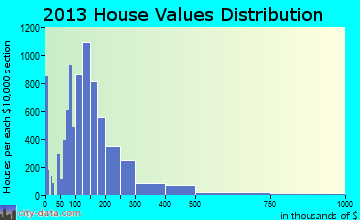 Johnson City home values distribution