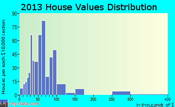 Bruceton home values distribution