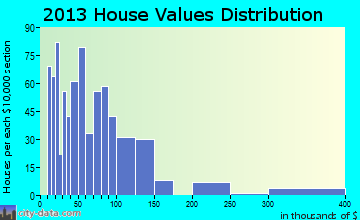 Kountze home values distribution