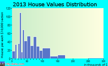 Rainelle home values distribution