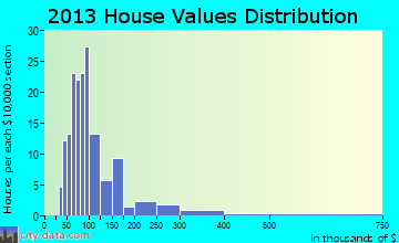 Plum Lake home values distribution