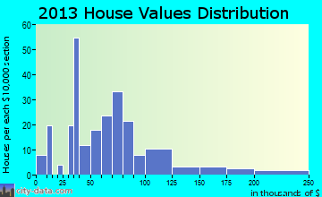Birdseye home values distribution