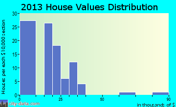 Palmer home values distribution