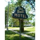Tripp: Tripp, So.Dakota - 'Old Bell Motel' sign (main st. north of town)