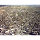 Aerial view of Sheridan, Wyoming - facing Southeast