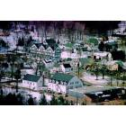 An aerial view of the center of Bartlett Village circa 1983