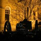 Athens: The Double-Barrelled Cannon in front of City Hall