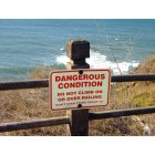 Palos Verdes: Strong warning at the Ocean Cliff