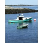 Phippsburg: Boat and Tender, West Point, Phippsburg, Maine