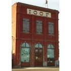 Adams: Adams IOOF building on Main St in April 2005
