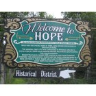 Hope: Welcome to Hope Sign