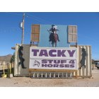 Dolan Springs: Tacky Stuf 4 Horses carrying feed, Levi's, boots, period clothing from 1800's