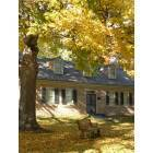 Platteville: Stone Cottage Museum During Fall Colors