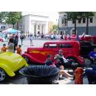 Orange: Orange Traffic Circle Car Show