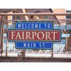 Fairport: The sign on the historic Main Street bridge welcomes you to Fairport.