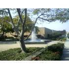 Rosemead: The water fountain by City Hall and the Library (Looking westward)on Valley Blvd.