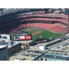 St. Louis: : New Busch Stadium looking down from the arch, St. Louis, MO