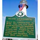 Biloxi: Lighthouse sign in Biloxi, MS