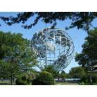 Queens: Flushing Meadow Park Unisphere site of 1960's Worlds Fair