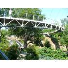 Greenville: Pedestrian Suspension Bridge - Falls Park