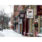 Cooperstown: Winter scene, Maine Street, Cooperstown, NY