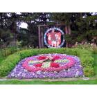 New Glarus: The Floral Clock greets visitors to New Glarus