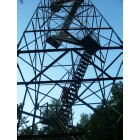 Elba: This is laying down, underneath the firetower in Elba, Minnesota on a clear and warm summer day.