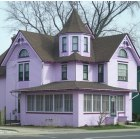 Richmond: Pink House on Route 12 in Richmond, IL