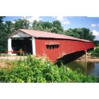Montezuma: West Union Covered Bridge as originally built