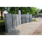 Scottsboro: War memorial erected by the Veterans of Jackson County. Located downtown on the courthouse square corner of Broad & Laurel Street