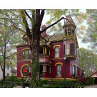 Fort Scott: House that caught my eye. Edited with Photoshop