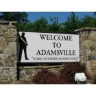 Adamsville: The welcome sign.