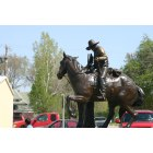 Kiowa: Bronze Pioneer Statue dedication April 16, 2004 - Kiowa, KS