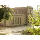 La Conner: Town Hall during Spring rain storm