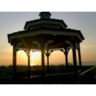 Bradley Beach: SUNRISE THROUGH GAZEBO AT BRADLEY BEACH NJ