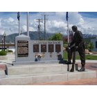 Tremonton: Memorial statue in Midland Square,Tremonton, UT