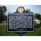 Columbia: Columbia Methodist Episcopal Church, South - Historical Marker