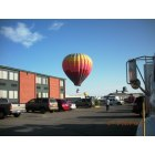 Riverton: Hot Air Balloons over Riverton - as seen from the Holiday Inn & Convention Center