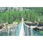 Libby: Kootenai Falls The swinging bridge