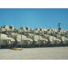 Fort Bliss: Tanks all in a row.