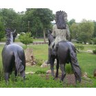 Hopatcong: statues overlooking park