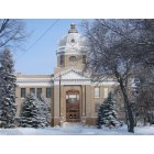 Carrington: Foster County Courthouse in Winter - Carrington, ND