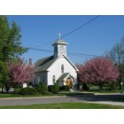 Mullica Hill: Holy Name of Jesus Church in the spring