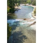 New Braunfels: City Chute on the Comal River in New Braunfels, TX.