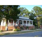 Eastover: A gracious home bedecked with flowers on Main Street, otherwise known as Old Eastover Road (SC-764), September 11, 2009.