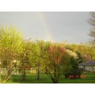 St. Albans: spring with rainbow
