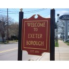 Exeter: Welcome to Exeter sign