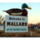 Mallard: The signage, welcoming visitors to Mallard