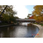 Naperville: Bridge and Fall colors at Naperville Riverside