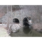 Ogdensburg: Backwards Tunnel - Under the former rail road tracks, with a wider opening over the Wallkill for river trafic in the old days.